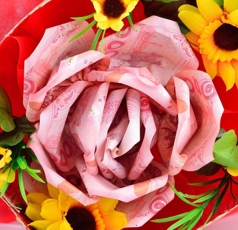 Flor del dinero en fondo imagen de archivo libre de regalías