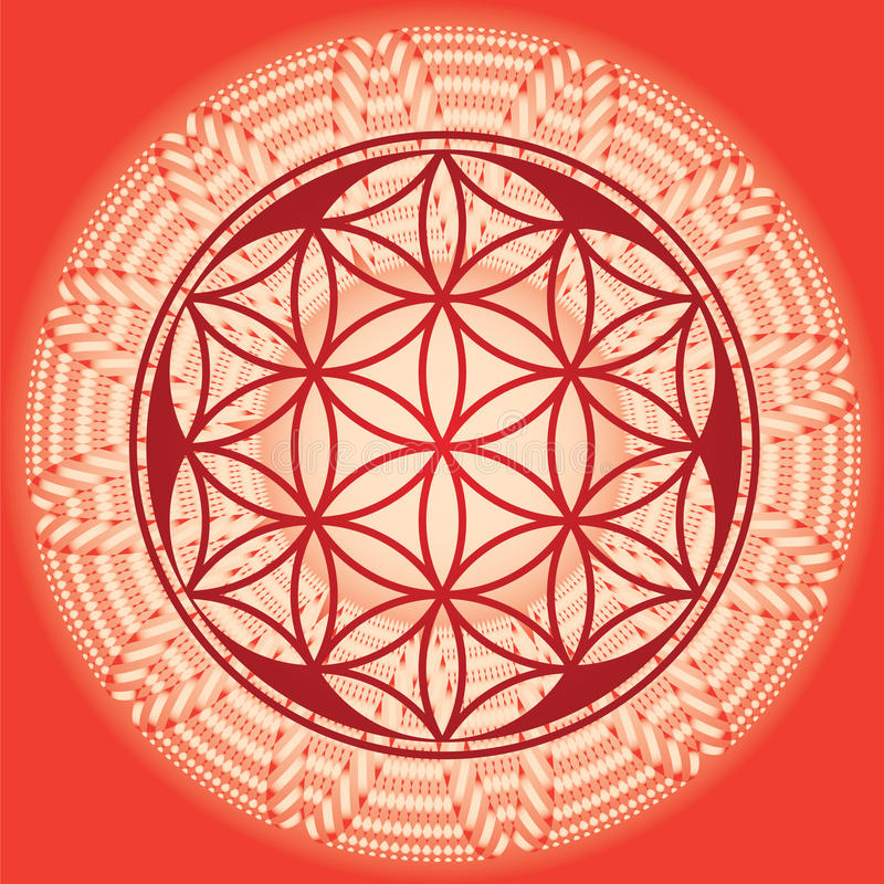 Flor del edición-uso de la mandala-primavera del germen de la vida para el diseño y mí libre illustration