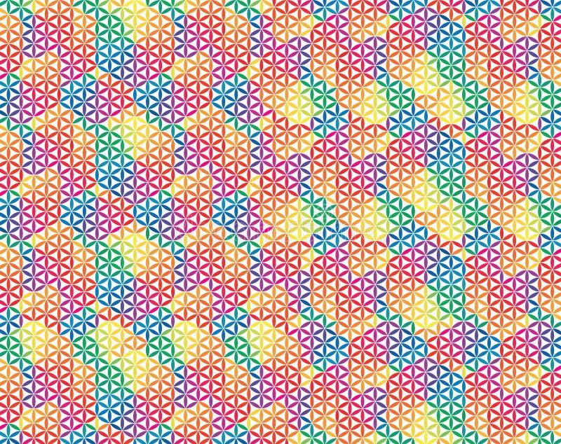 Flor del fondo colorido de la vida ilustración del vector