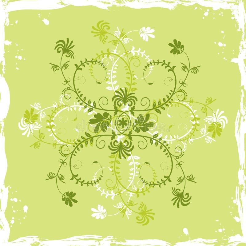 Flor del fondo de Grunge, elementos para el diseño, vector stock de ilustración