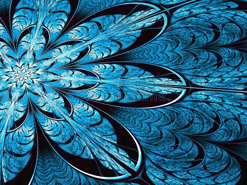 Flor del fractal - imagen digital generada del extracto ilustración del vector