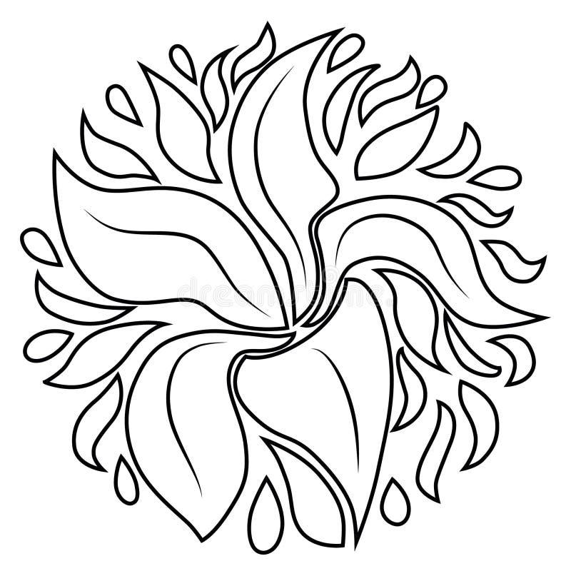 Flor del fuego con cinco pétalos libre illustration