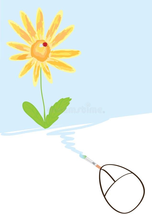 Flor del gráfico del ratón libre illustration