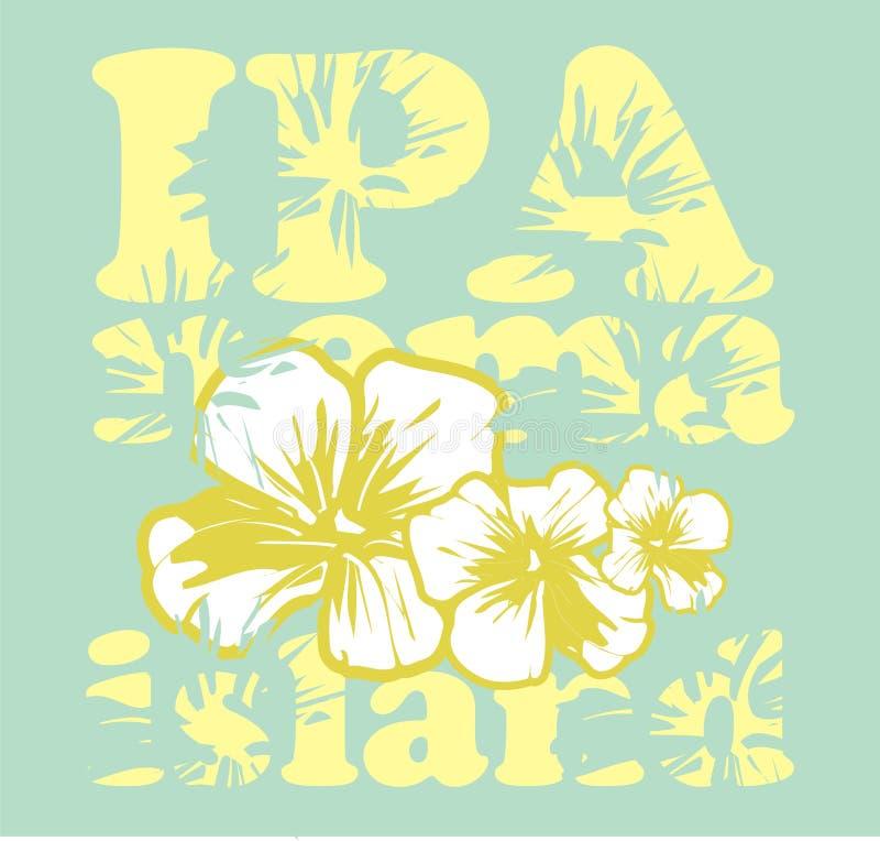 Flor del hibisco stock de ilustración