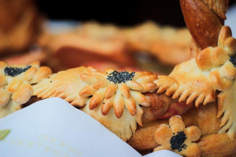 Flor del pan con la amapola imagen de archivo libre de regalías