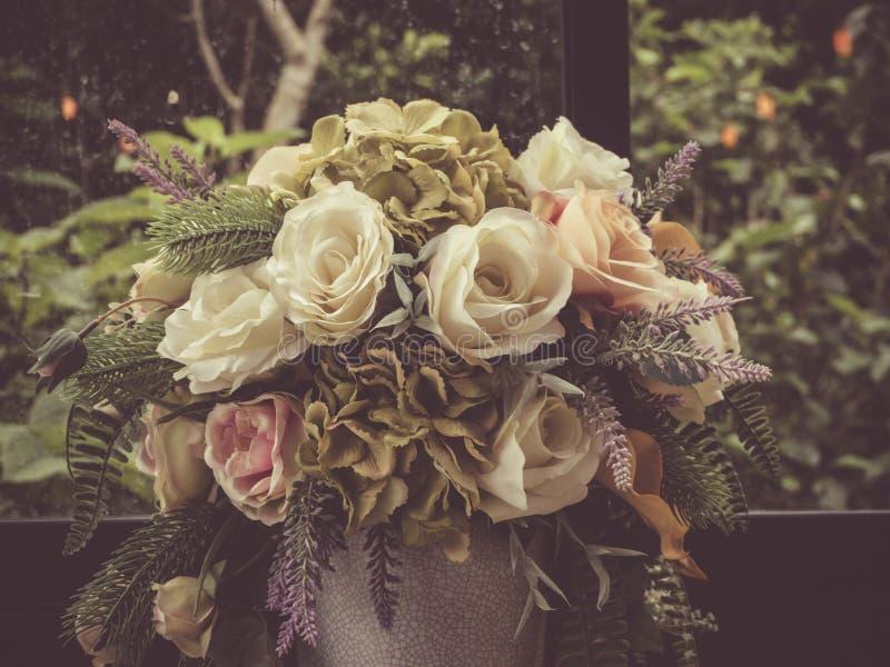 Flor del ramo con estilo del vintage fotos de archivo