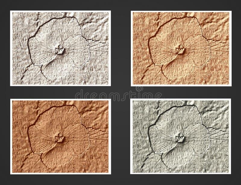 Flor del SP del Sida - Fondo, frontera o textura fotografía de archivo