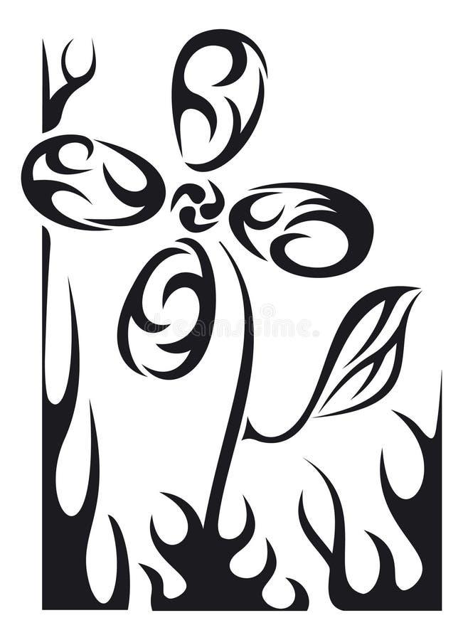 Flor del tatuaje del vector imágenes de archivo libres de regalías