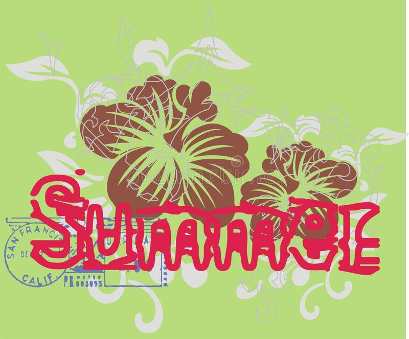 flor del verano libre illustration