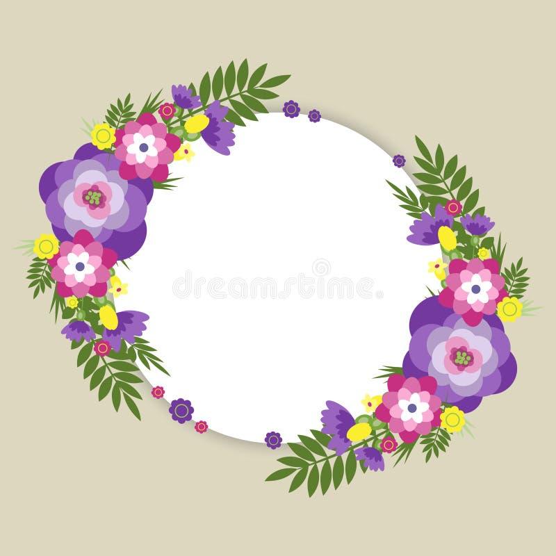 Flor del verano redonda ilustración del vector