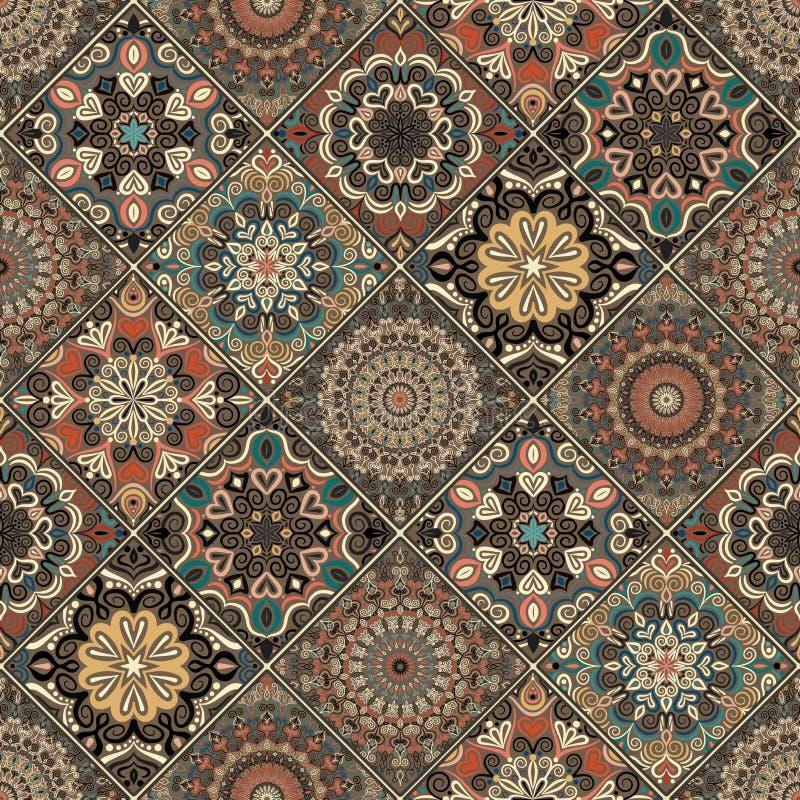 Flor determinada Boho de Brown de la teja libre illustration