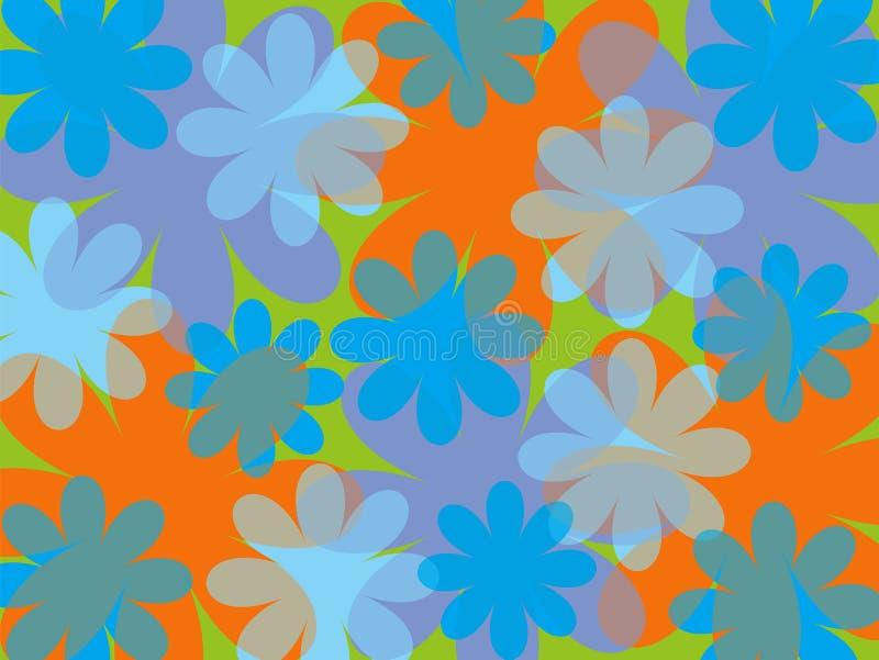 Flor do azul do verão do divertimento ilustração stock