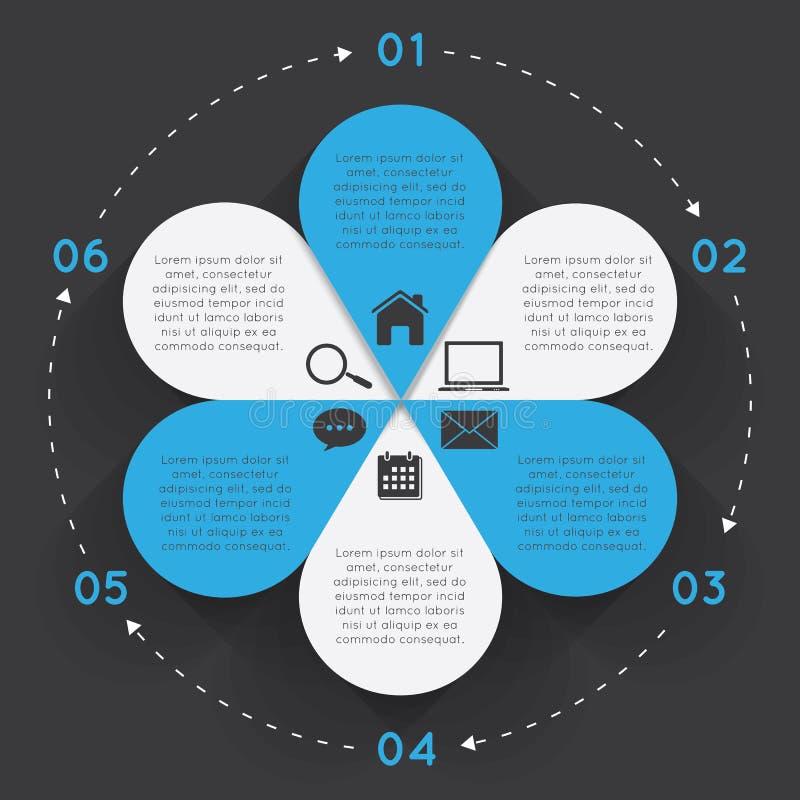 Flor do círculo dos elementos de Infographic ilustração royalty free