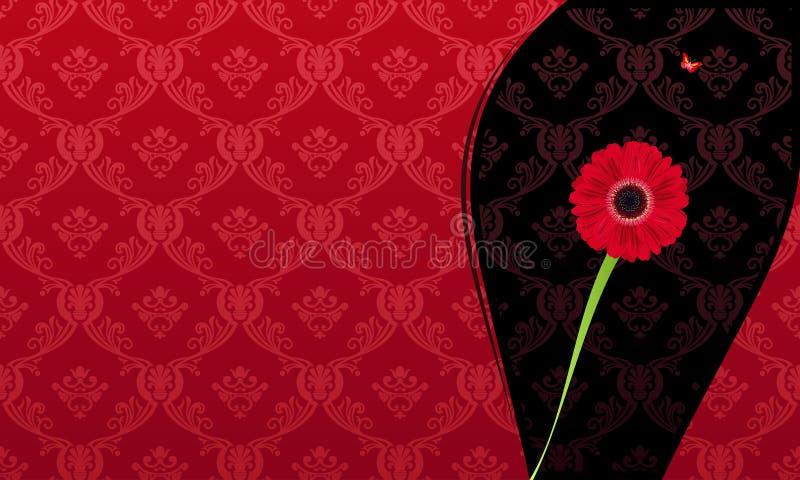Flor do cartão do convite da forma do encanto ilustração do vetor