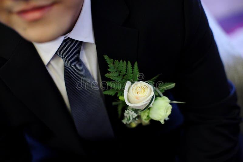 Flor do casamento para o noivo imagens de stock royalty free