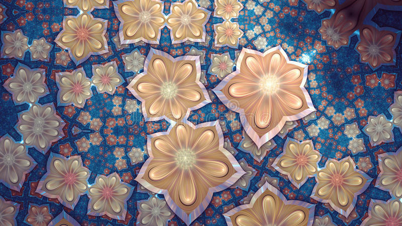 Flor do Fractal ilustração do vetor