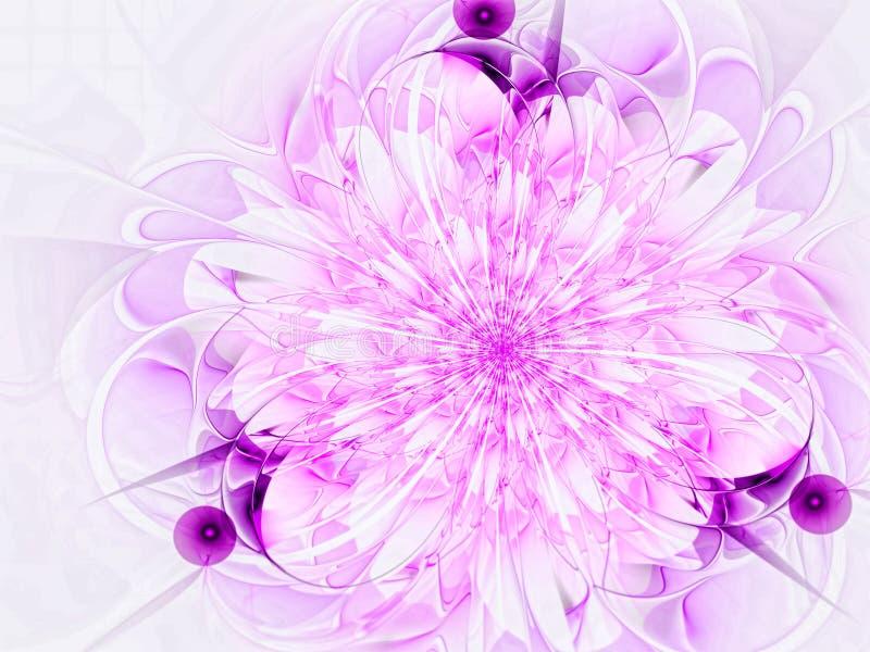 Flor do Fractal - imagem digitalmente gerada do sumário ilustração royalty free