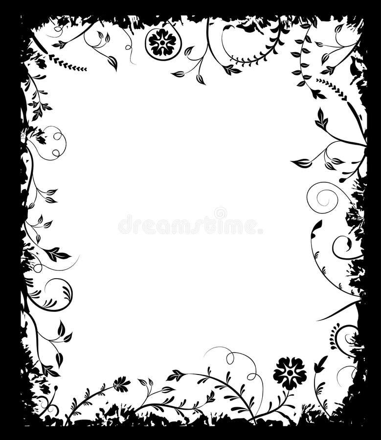 Flor do frame de Grunge, elementos para o projeto, vetor ilustração do vetor