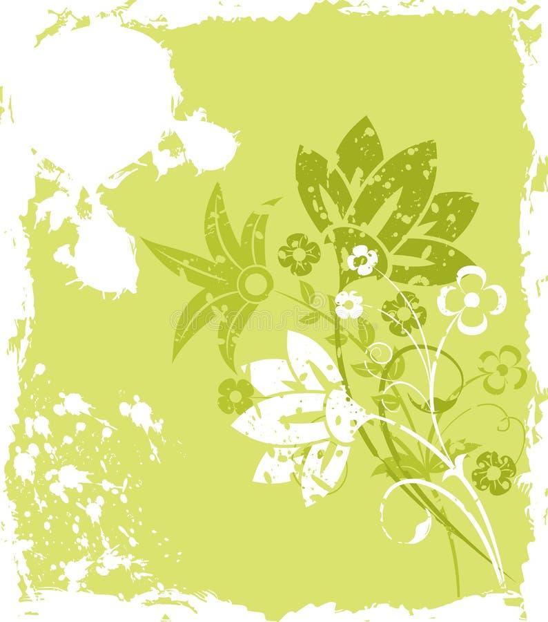 Flor do fundo de Grunge, elementos para o projeto, vetor ilustração royalty free