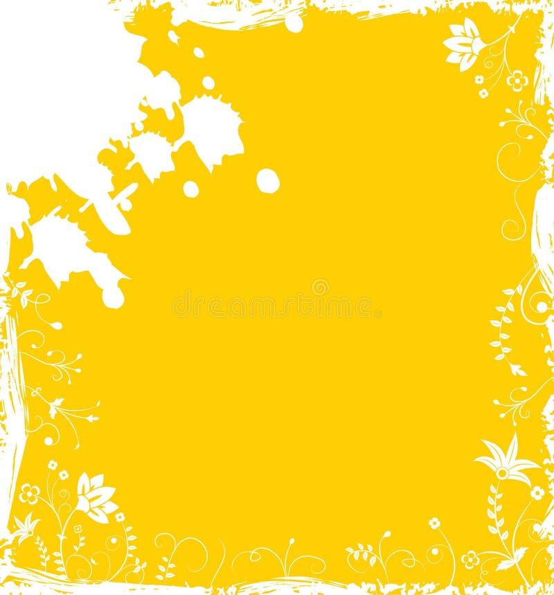 Flor do fundo de Grunge, elementos para o projeto, vetor ilustração do vetor