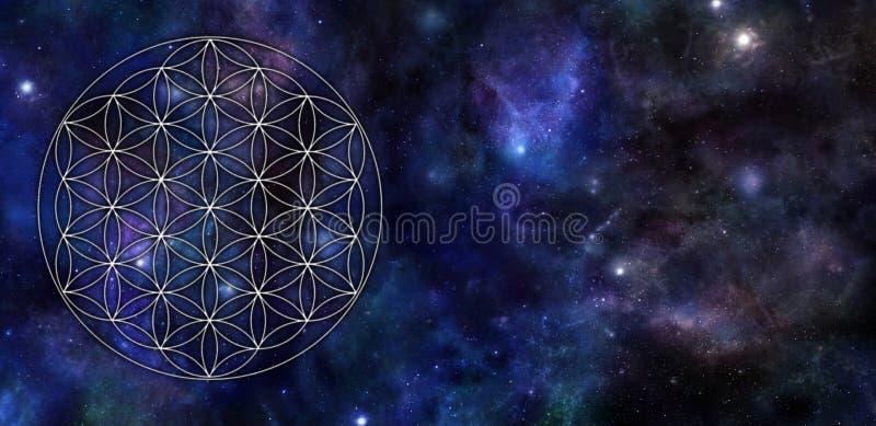 Flor do fundo do universo da vida ilustração do vetor