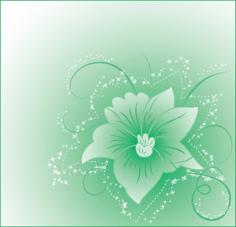 Flor do fundo, elementos para o projeto, vetor ilustração stock
