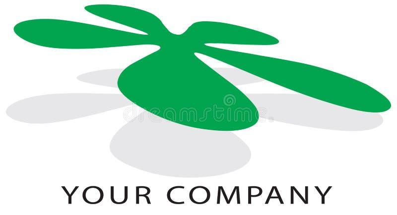 Flor do logotipo ilustração royalty free