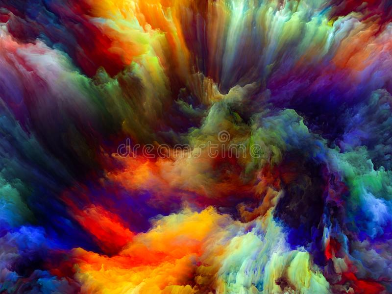 A flor do movimento da cor ilustração royalty free