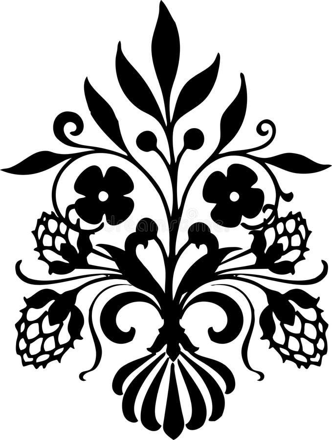 Flor do ornamento ilustração do vetor