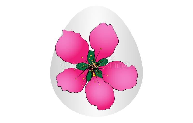Flor do ovo da páscoa imagens de stock