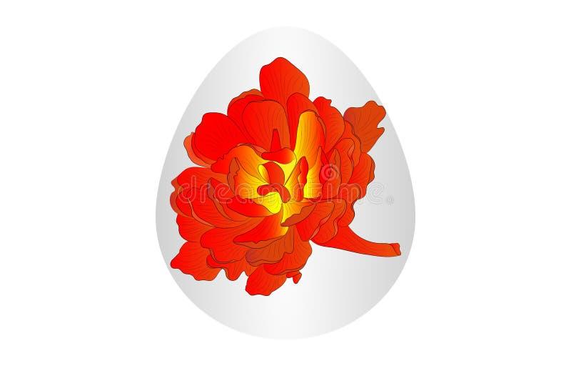 Flor do ovo da páscoa foto de stock