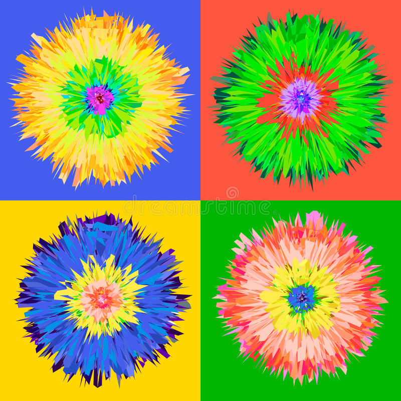 Flor do pop art. ilustração royalty free