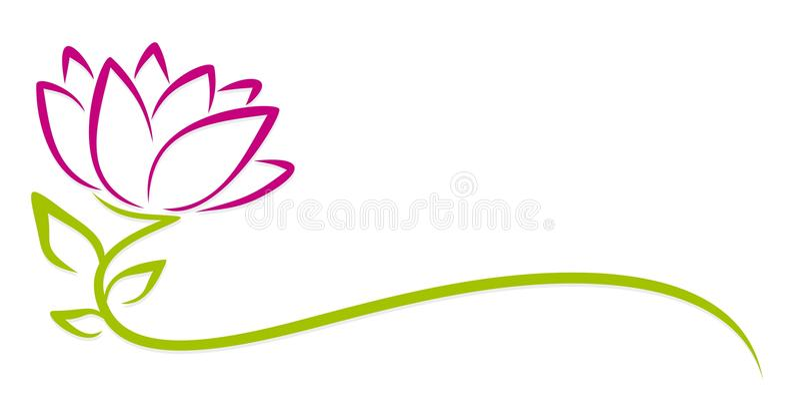 Flor do roxo do logotipo ilustração royalty free