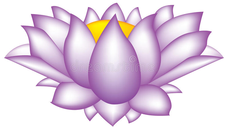 Download Flor dos lótus ilustração stock. Ilustração de yoga, violeta - 10067863