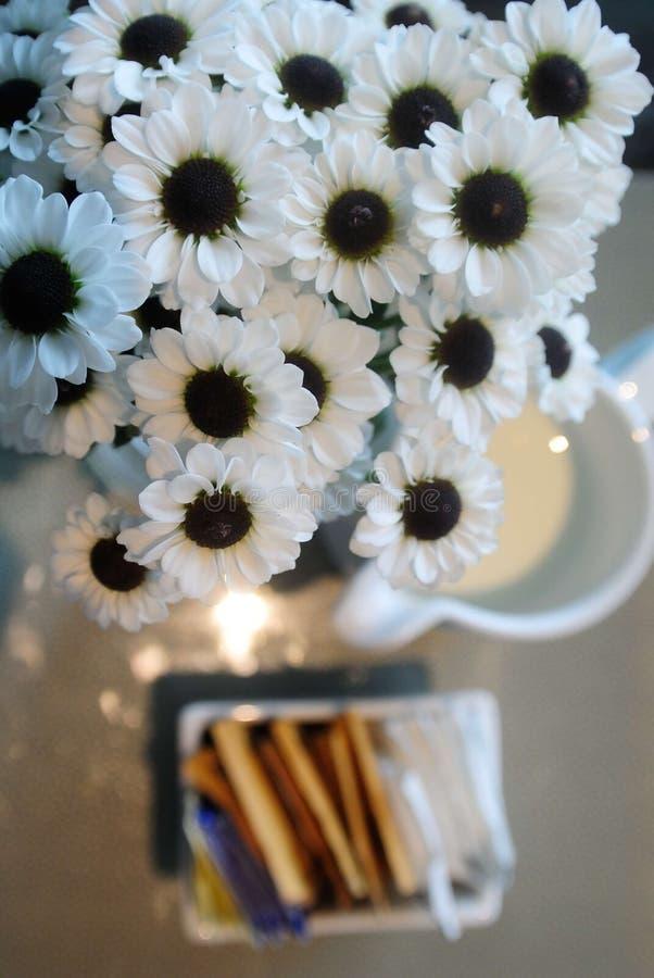 Flor e chá foto de stock