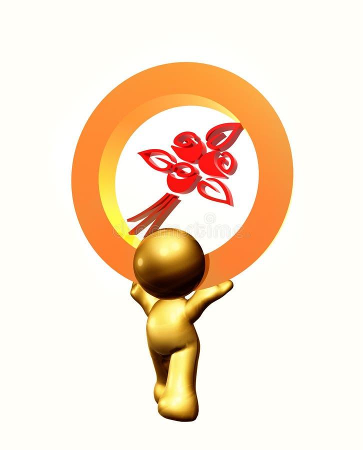 A flor emite o símbolo do ícone ilustração royalty free