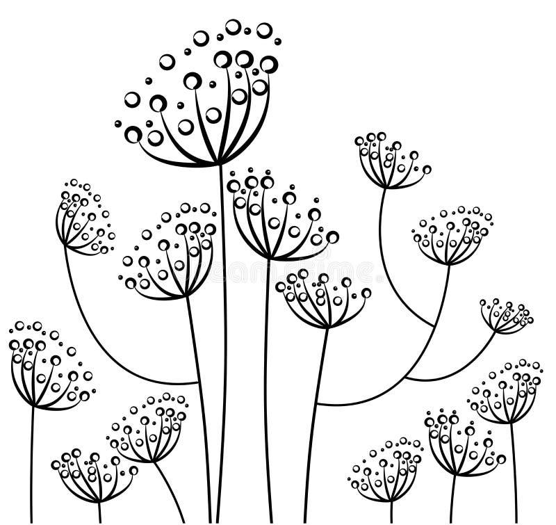 Flor en el jardín ilustración del vector