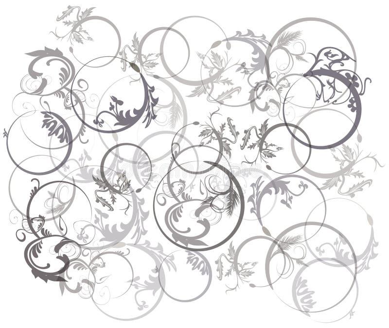 Flor en fondo del círculo stock de ilustración