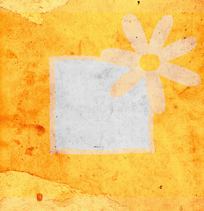 Flor en fondo del grunge libre illustration