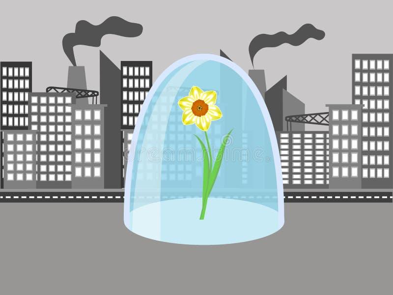 Flor en la ciudad libre illustration