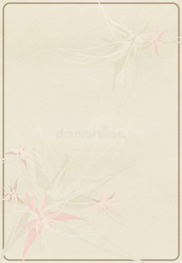 Flor en un papel viejo fotos de archivo libres de regalías