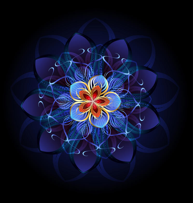 Flor escura abstrata ilustração royalty free