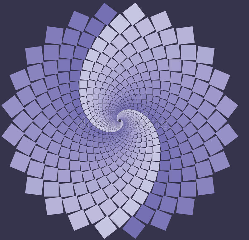 Flor espiral de la lavanda libre illustration