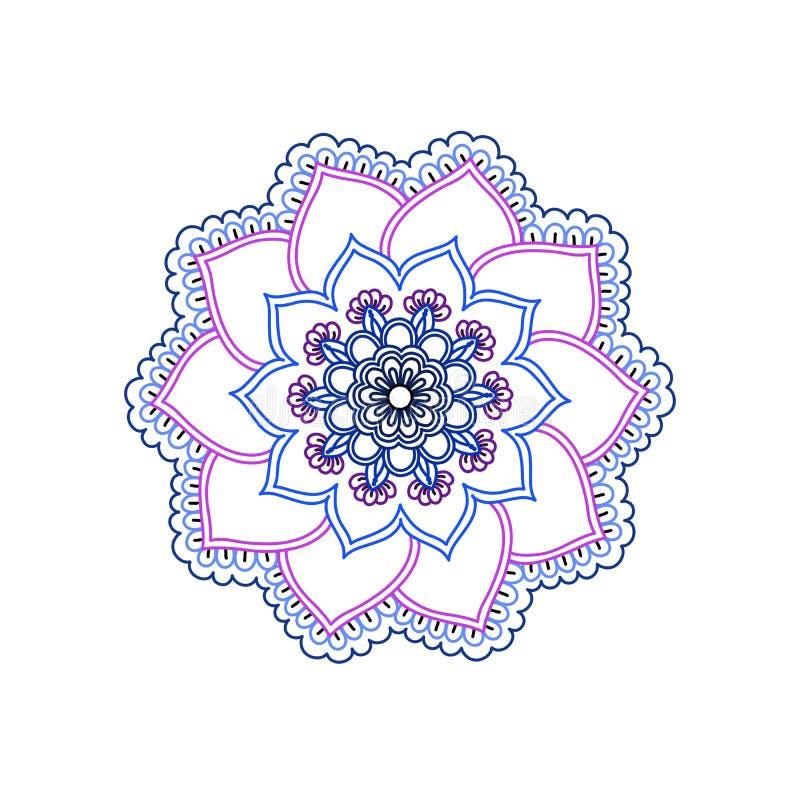 Flor espiral del color multi en un fondo blanco stock de ilustración