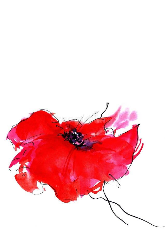 Flor estilizado ilustração royalty free