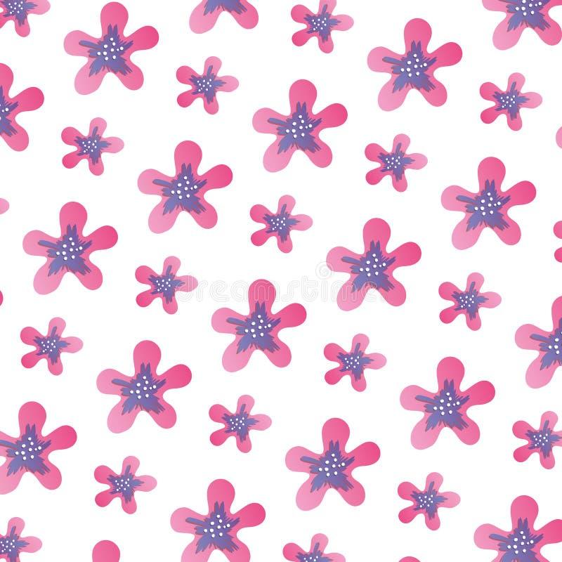 Flor exótica con el fondo lindo de los pétalos ilustración del vector
