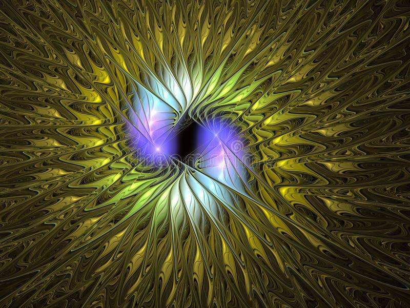 Flor ex?tica abstracta con los p?talos texturizados Dise?o del fractal de la fantas?a libre illustration