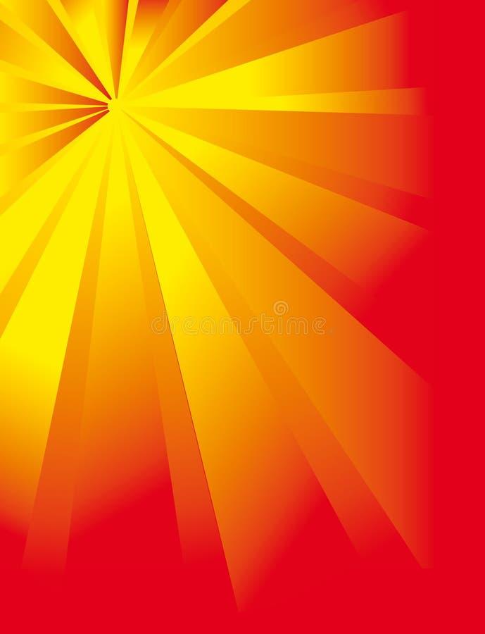 Flor fantástica das raias do sol ilustração do vetor