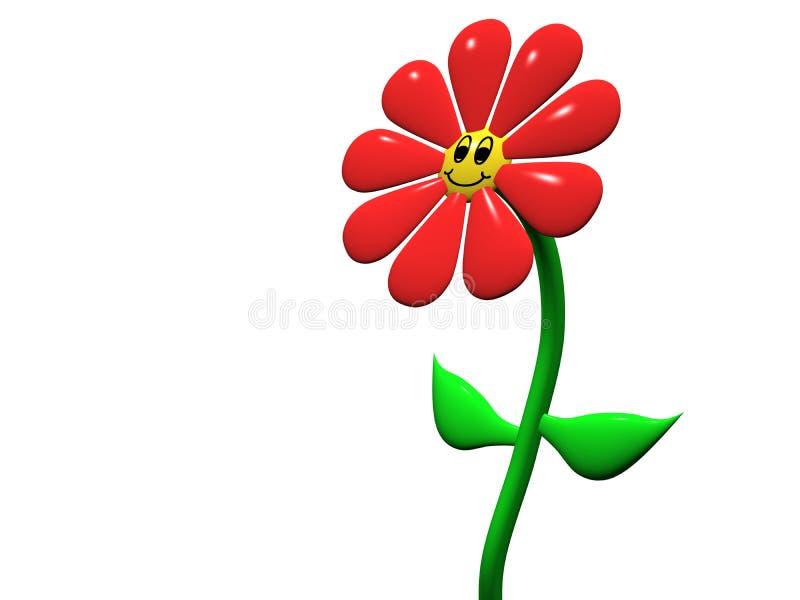 Flor feliz ilustração do vetor