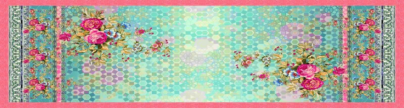 Flor floral sem emenda com fundo abstrato digital ilustração do vetor